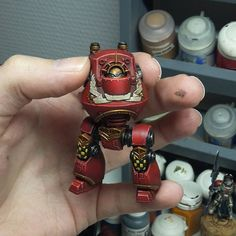 @warpstormpainting -  | Work in progress for my Horus heresy era blood angels, first one up is the contemptor #warhammer #warhammer40k #40k #gamesworkshop #eavymetal #forgeworld #airbrush #painting #horusheresy #citadel #coolminiornot #minipainting #gw #bloodangels #spacemarines #adeptusastartes #3ok #warhammer30k