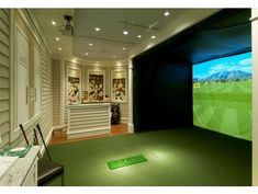 At Home / In House / Residential | Indoor Golf Simulator | Virtual Golf  Course U0026 Driving Range | X GOLF | Media | Pinterest | Golf Simulators, Golf  And ...