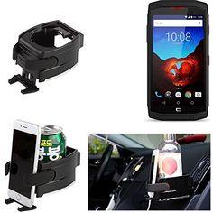 Pour Crosscall Trekker X3 Titulaire Smartphone pour la voiture noir Support Porte-Gobelet voiture Tasse Bouteille Car Air Ventilation Mount…