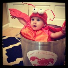 Lobster Halloween costume for baby