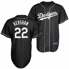Los Angeles Dodgers Majestic MLB Clayton Kershaw 22 White On Black Jersey  (Black) ... bb977bb04
