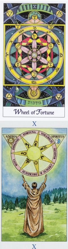 WHEEL OF FORTUNE: cycles and helplessness (reverse). Cosmic Tarot deck and Sorcerer Tarot deck: tarot card questions, tarot nano and daily tarot. Best 2017 playing cards design and oracles eye. #pentacle #ios #androidapp #iosapp