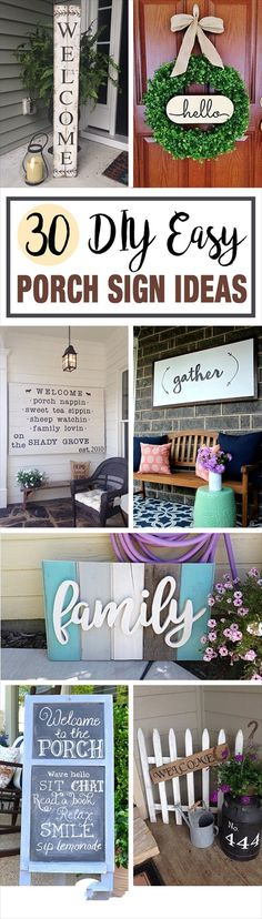 Gorgeous DIY Front Porch Sign Ideas to Beautify Your Home