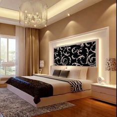 Ceiling design bedroom - New Step by Step Roadmap for Discover the Ultimate Master Bedroom Styles homedecorsdesign Bedroom False Ceiling Design, Luxury Bedroom Design, Bedroom Bed Design, Bedroom Furniture Design, Home Decor Bedroom, Bedroom Ideas, Large Bedroom, Bedroom Designs, Budget Bedroom