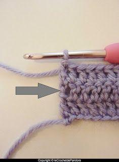 Tuto : remplacer les mailles en l'air pour tourner en début de rang (technique 1)