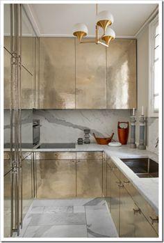Metallic Cabinets Jean-Louis Deniot.