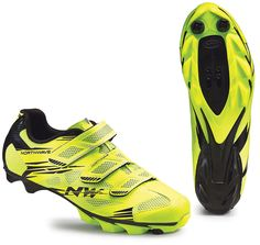 Northwave Scorpius 2 MTB Shoes - Yellow Fluo-Black Mtb Shoes, Cycling Shoes, Performance Cycle, Cleats, Bicycle, Yellow, Black, Football Boots, Bike