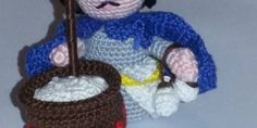 Sal Presepe all'uncinetto II: il ricottaro New Years Eve Party, Crochet Hats, Beanie, Tutorial, Lana, Portal, Party, Christmas Knitting, Nativity Scenes