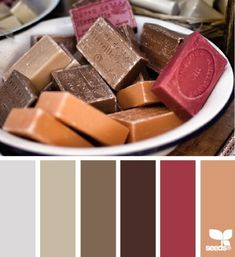 Handmade french soap color inspiration. Polymer clay color recipe, color palette by Kalinkapolinka