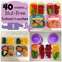 40 Weeks of nut-free school lunches. I have to make nut-free lunches for my son, so this is a ton of great ideas. If anyone at your kid's school has nut allergies, play it safe--kids share!