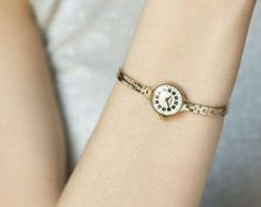 Cocktail watch gold plated women's watch delicate by SovietEra