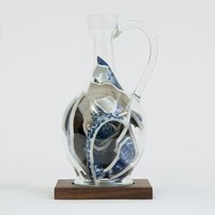 Bouke de Vries: Memory Vessel XIII, 2014 Contemporary glass following the original form of its contents, a 17th century Japanese Arita porcelain ewer