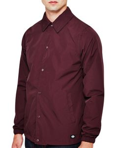 New In   Dickies Torrance Coach Jacket in Maroon   Shop all men's clothing at The Idle Man