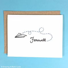 Pack of 8 Paper Airplane Farewell Cards