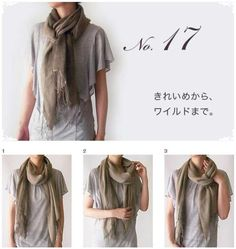and 33 are cute shawl methods Japan Fashion, Diy Fashion, Love Fashion, Autumn Fashion, Fashion Outfits, Womens Fashion, Fashion Design, Diy Scarf, Funny Outfits