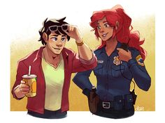 """dar-draws: """"Dickkory week Day 2 - Reversed Background / Roles (but can also be AU idk) Yooo so what if, hear me out, model/celeb Grayson and officer Anders. """"Thanks for the help, Miss… Anders. I didn't expect anyone would recognize me."""" """"Happy to. Robin Starfire, Teen Titans Starfire, Starfire And Raven, Nightwing And Starfire, Superman Family, Batman And Superman, Robin The Boy Wonder, Dc Couples, Richard Grayson"""