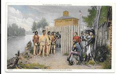Postcard Native American Surrender of Black Hawk Phostint Milwaukee Museum #3005