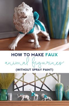 Let everyone in the family pick their favorite animal and turn it into  holiday decor. No spray paint required! Click through to get the full  instructions. 222aaf51c456