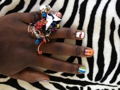 fun colorful wired ring