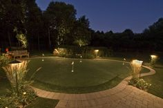 backyard lighted putting green
