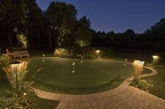 backyard lighted putting green | putting green lights lighting for putting green sport court lighting ...