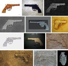 Shots (Ausschnitte von Arbeiten des Werkzyklus 'Shots) Manfred Unterweger / Undi +i