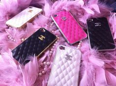 Chanel iPhone Covers in Quilted Pattern :)