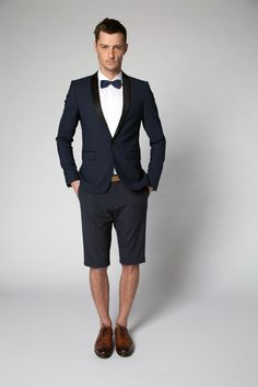 The Summer version of the tuxedo for evening cocktails and events