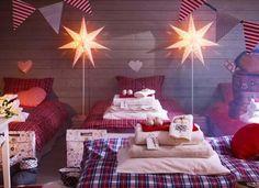 decorare la camera da letto per natale
