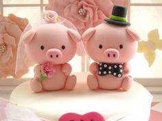 Fondant Wedding Cakes, Fondant Cake Toppers, Wedding Cakes With Cupcakes, Fondant Cupcakes, Wedding Cakes With Flowers, White Wedding Cakes, Wedding Cake Toppers, Cupcake Toppers, Cute Polymer Clay