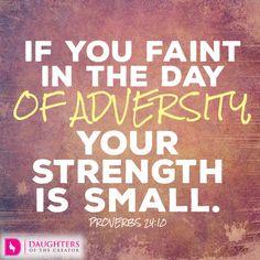 Daily Devotional -Push Past Adversity: http://daughtersofthecreator.com/push-past-adversity/
