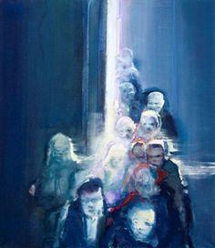 iheartmyart: Havard Vikhagen, Moments - crowd 1, 2012, 150 x 130 cm, oil on canvas