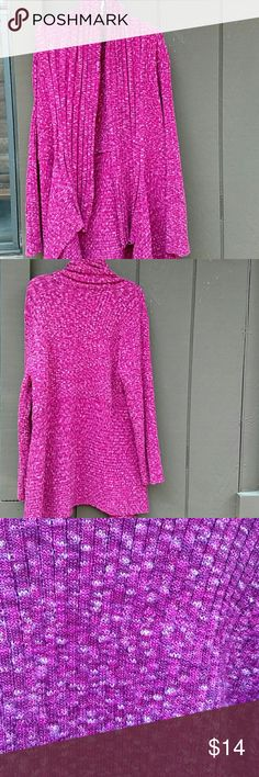 I.N.C high/low cardigan stretchy with Shiny threads.  Fits me loosely and I Wear Medium .  Cranberry color Sweaters Cardigans