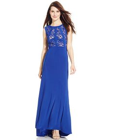 R M Richards Banded Lace Gown - Dresses - Women - Macy s bd11ca8b8837