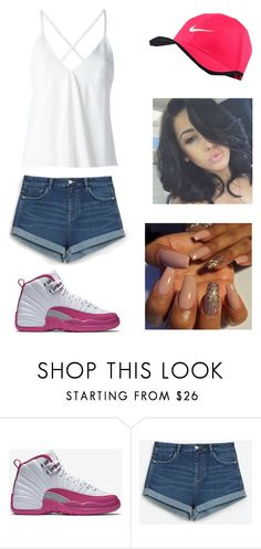 """Untitled #846"" by qveenkyndall16 ❤ liked on Polyvore featuring NIKE, Zara and Dondup"