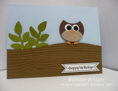 MyDiane Designs: Itty Bitty Owl, Stampin' Up!, Punch Art, handmade cards