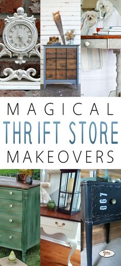 Magical Thrift Store Makeovers - The Cottage Market....love the white clock ..I'll have to look for one and paint it with chalkboard paint