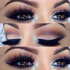 Gorgeous brown eyes... Dramatic Eyes- Make-Up- Party Time- Night Time- Weddings- Proms- Anniversaries: