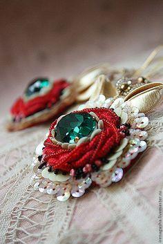 Exotic handmade earrings