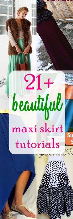 maxi skirt tutorials | pleated maxi skirt tutorials | long skirt tutorials | For more sewing patterns, sewing tips and sewing tutorials visit http://you-made-my-day.com/