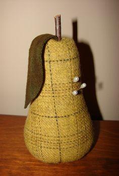 Golden Pear Pincushion - Pattern by Blackbird Designs