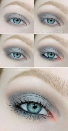 very pale and fair Skin eye Makeup