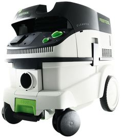 Festool 583492 CT 26 E HEPA Dust Extractor. Automatic Tool Start & adjustable suction with tool triggered or manual on-off switch and infinitely variable suction force, can be used wet or dry. Supplied with 11-1/2 foot long anti-static hose that is flexible and kink-resistant and will minimize shock hazards as well as reduce static cling. Sys-dock and hose garage feature allows for the storage and transport of Festool Systainers (not included) on the top of the flat, low-profile unit…