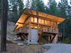Wintergreen Cabin located in the Methow Valley in Washington State designed by Balance Associates