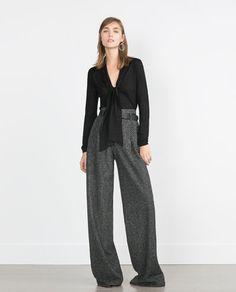 Zara Herringbone Trousers https://elenisworld.wordpress.com/2015/09/07/autumn-in-the-office/