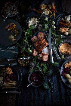 the art of entertaining at christmas, pork with apples and a cheeseboard - twigg studios