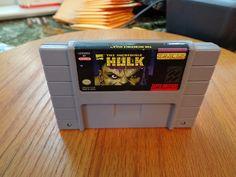 The Incredible Hulk 1994 Super Nintendo 1994 RARE SNES Game 743175790764 | eBay