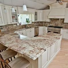 Supreme Kitchen Remodeling Choosing Your New Kitchen Countertops Ideas. Mind Blowing Kitchen Remodeling Choosing Your New Kitchen Countertops Ideas. Kitchen Countertop Materials, Refacing Kitchen Cabinets, White Kitchen Cabinets, Kitchen Redo, Refinish Cabinets, Cabinet Refacing, Cabinet Ideas, Kitchen Worktops, Kitchen Ideas