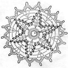 Ivelise Feito à Mão: Motivo Em Círculo De Crochê