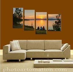 4-panel canvas wall art from photo. I'm really happy to have found this site. I wanted an unusual item and was able to get it through this site. The price was extra for overnight shipping.